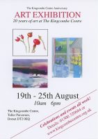 Kingcombe anniversary exhibition, A5 flyer